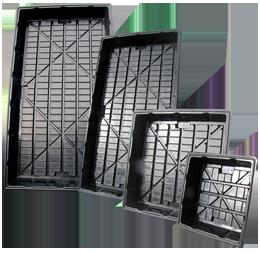 tray hugger 4 size black trans